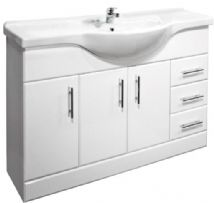 High Gloss White 1200mm Basin Unit